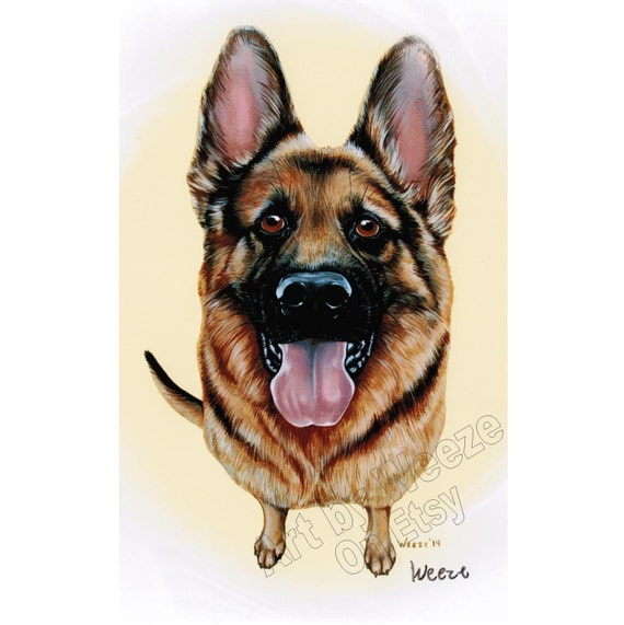 German Shepherd German Shepard German Shepherd Art By