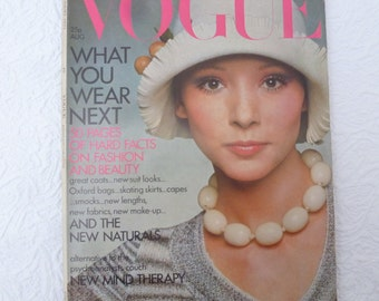 Vogue 1970s memorabilia vintage magazine collectors gift table magazine ladies vogue fashion magazine vogue uk gift for her vintage history