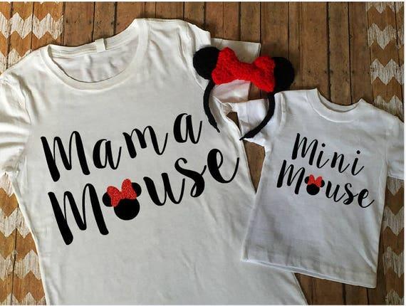 Mama Mouse Mini Mouse Matching Shirt Set Disney Shirt