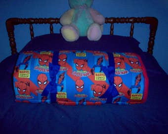 Spiderman Nap Pad with Red