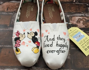 And They Lived Happily Ever After Mickey & Minnie Shoes. Mickey Toms. Minnie Toms.