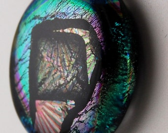 2856 dichroic cabochon - free shipping