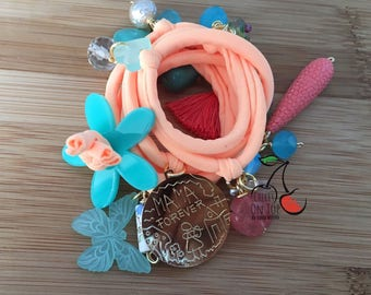 Multi Charm Bracelet Diferent Colors, Materials, Acrylics Add Your Own Mix