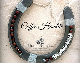 Custom Horseshoe | Personalized Horseshoe | Lucky Horseshoe | Beaded Horseshoe | Name Horseshoe | Horseshoe Décor | Horse Décor | Coffee One