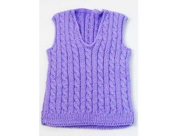Knitting Pattern For Ruffle Baby Vest : Baby Blanket Knitting Pattern Sandi Cable and Lace Baby Blanket Knitting Patt...