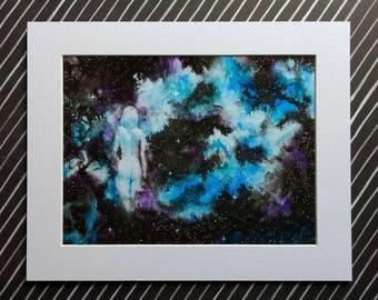 """Fine Art Print """"Star Stuff II"""" 6x8 matted to 10x8"""