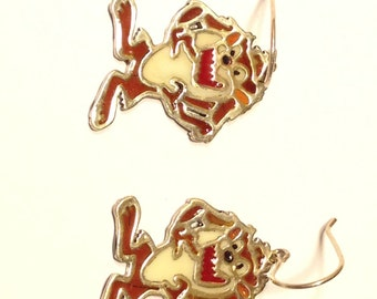 Tazmanian Devil Earring and Pendant Set