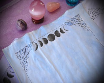 10 Pages Moon Phase Book of Shadows Pages / BOS Binder Refill Pages / Vintage Witchcraft  Spellbook / Lunar Goddess Witch Stationary Paper