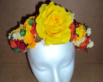 Floral Crown- Yellow Rose