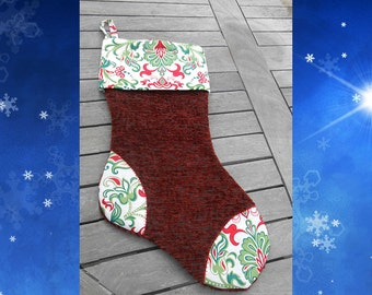 Charming Tapestry Christmas  Stocking, CR#0106
