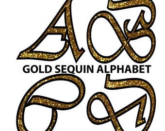 50 sale gold sequin alphabet clipart glitter alphabet gold sequin letters uppercase wedding christmas commercial use clipart clip