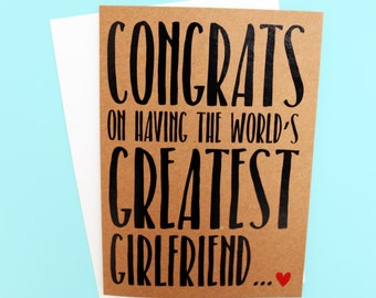 Funny Card | Love Card | Couples Card | Funny Valentines Day Card | Humorous Card | Handmade Card | Boyfriend Card |Quirky Anniversary Card