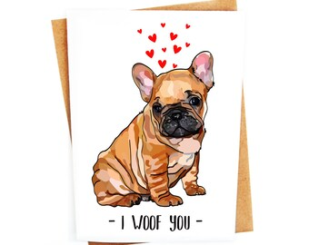 Funny French Bulldog Card | Love Card | Couples Card | Anniversary Card | Valentines Day | Humorous Handmade Card | Animal Card | Dog Pun