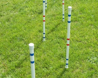 Dog Agility Equipment Weave Poles-Set of six | FURNITURE GRADE PIPE!! Not plumbers grade!!!