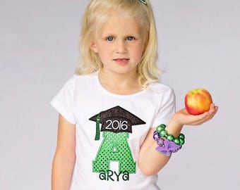 Kids Graduation Embroidered Shirt - Last Day of School - Kindergarten Graduation - Pre-K Graduation - End of School