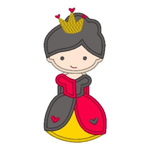 SAMPLE SALE, Queen of Hearts Cutie Inspired Embroidered Shirt - Disney Villains Girls Shirt - Disney Alice in Wonderland Birthday Shirt