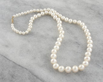 Graduated Freshwater Pearl Necklace with Gold Clasp F8R5YF-P