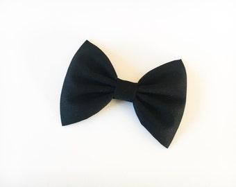 Black hair bow black bow tie