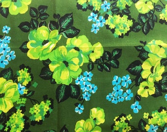 Scandinavian Vintage mod tablecloth with a floral pattern. Made in Sweden. Fantastic colors, swedish mid century modern design.
