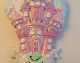 Princess Castle Personalized Christmas Ornaments