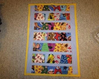 """Wizard of Oz Baby Quilt, Car seat cover, Toddler Blanket 23"""" x 34"""""""