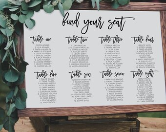 Find Your Seat Sign, Wedding Signs, Printable Wedding Signs, Seating Chart, Seating Chart Signs