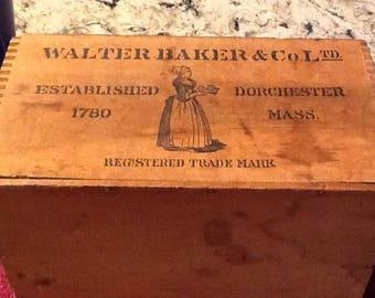 Vintage Walker Baker Cocoa Box circa  1910