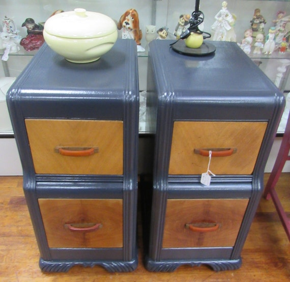 Waterfall nightstands or end tables painted