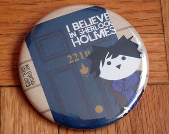 Sherlock. pinback button 2.16 in