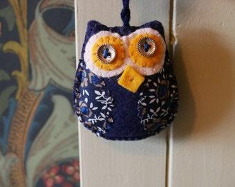 Handmade Felt Owl Hanging Ornament