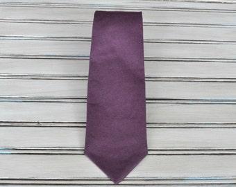 Plum Linen Tie, Plum Skinny tie, for Men, Youth, Boys.  All Sizes