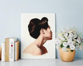 Portrait of a Girl Pastel Art Print
