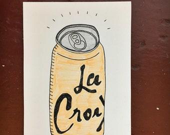 Tangerine La Croix Is The Best Flavor drawing
