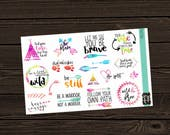 Planner Stickers Stickers Quote Planner Stickers Decorative Planner  Die Cut Stickers Decorative Stickers  PS036 TRIBAL