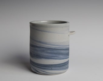 Blue Mug, Ceramic Mug, Ceramic Tumbler, Ceramic Cup, Porcelain Mug, Marbled Mug, Coffee Mug, Tea Cup, Home Decor, DIY, Marbled, Agate, (M 2)