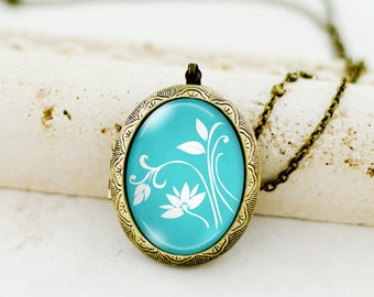 Custom Photo Locket Necklace Vintage Style Heart Shaped Chain Jewelry, Customize Inspirational Locket Pendant, Personalized Locket Insert