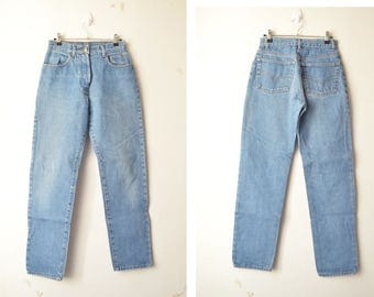 vintage high waisted mom jeans pants 80s 90s // S-M