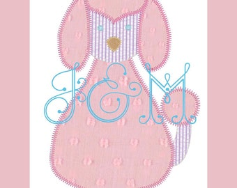 5x7 Vintage Style Blanket Stitch Poodle Applique Embroidery Design