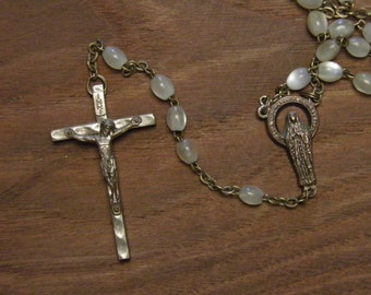 Vintage rosary in mother of pearl
