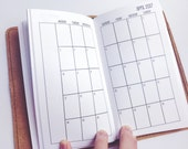 Traveler's Notebook PERSONAL Size Month on Two Pages MONDAY-SUNDAY {Jan-Dec 2017} #700-01