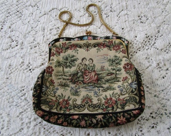 PRICE REDUCED - Vintage Italian Tapestry Purse - Free Shipping