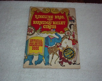 1976 RINGLING BROS. and Barnum & Bailey Circus Official Coloring BOOK - Extremely Rare Collectible