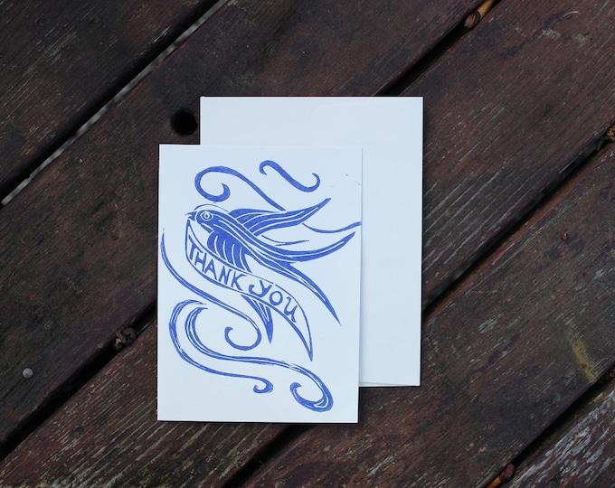 Blue Bird Thank You Card