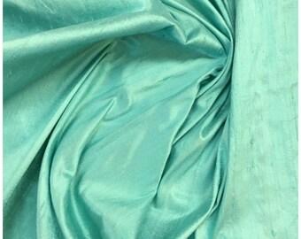 """Silk Dupioni, aqua 45"""" width"""
