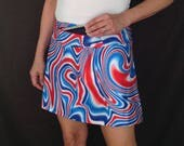 Custom running skirt with compression shorts and zipper on the waistband
