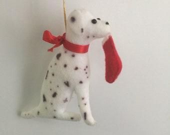Christmas Dálmata Dog, hand made Ornament, Christmas Ornament, Dog ornament, Christmas Decor