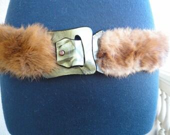 Vintage Mink Belt