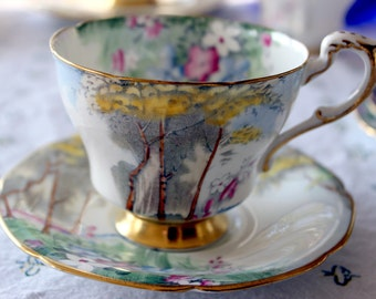 Paragon Woodland Bluebell Teacup and Saucer G 3748