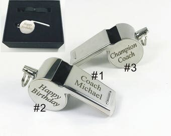 Personalized Custom Engraved  Whistle  Engraved Whistle Custom  Coach Whistle Personalized Teacher Whistle-Graduation Gifts