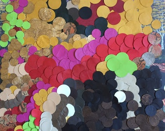 Leather Circles / Leather Scraps / Leather Pieces / 500 Pcs Leather  / Colorful Leather /  Leather Earrings / Leather Decoration / Art Deco